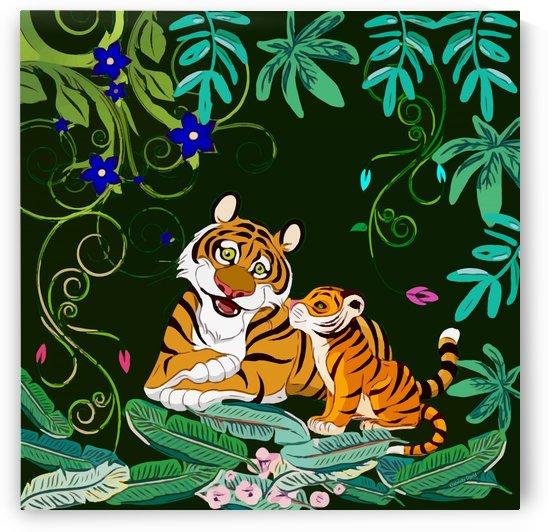 Happy Tigers by Gabriella David