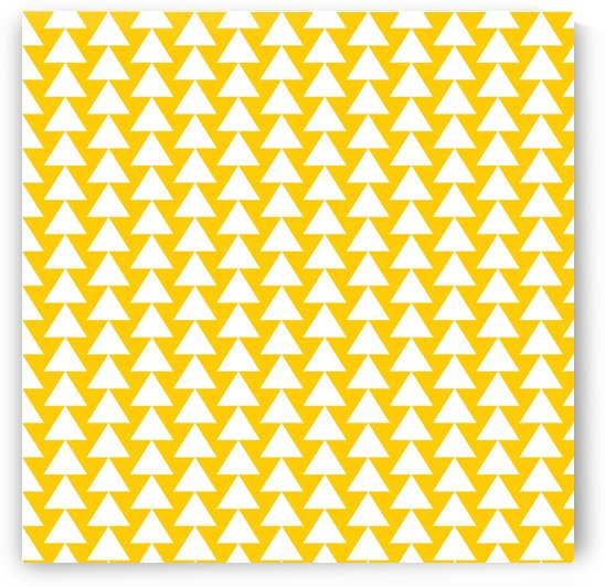 Yellow  White triangle by rizu_designs