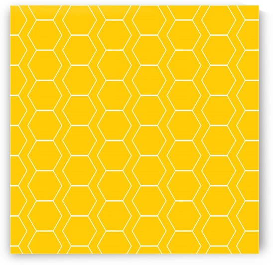 Yellow  White Hexagen by rizu_designs
