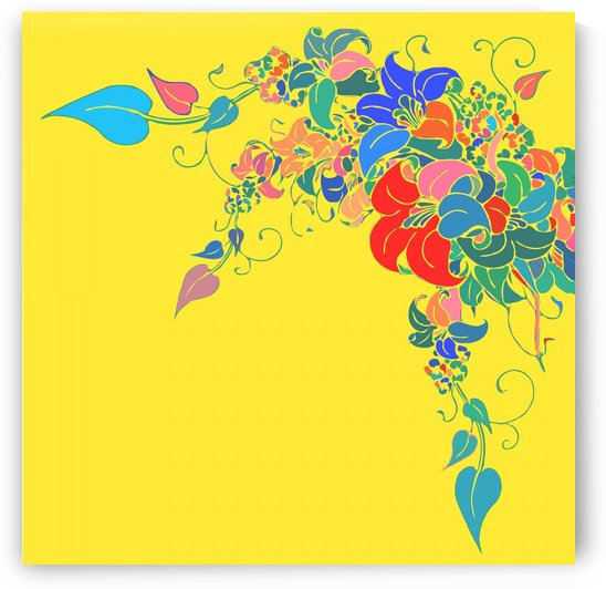 Vibrant Floral Design  by Gabriella David