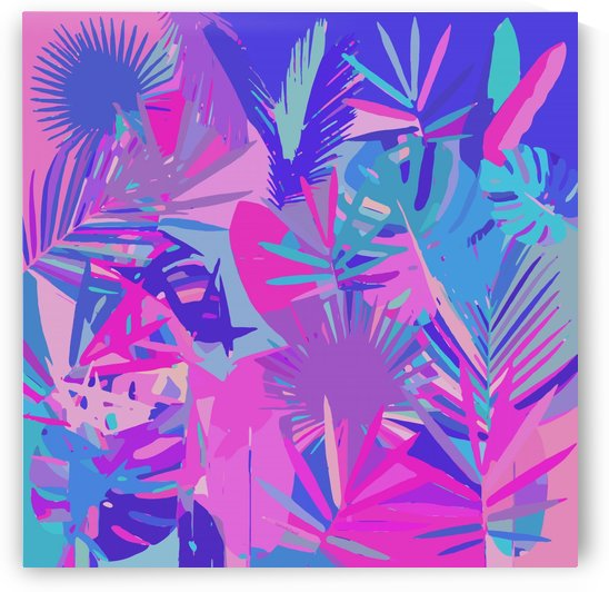 Tropical Leaves Abstract  by Gabriella David