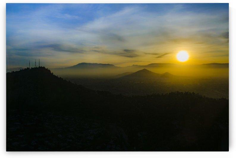 Sunset Scene Santiago de Chile Aerial View 003 by Daniel Ferreia Leites Ciccarino