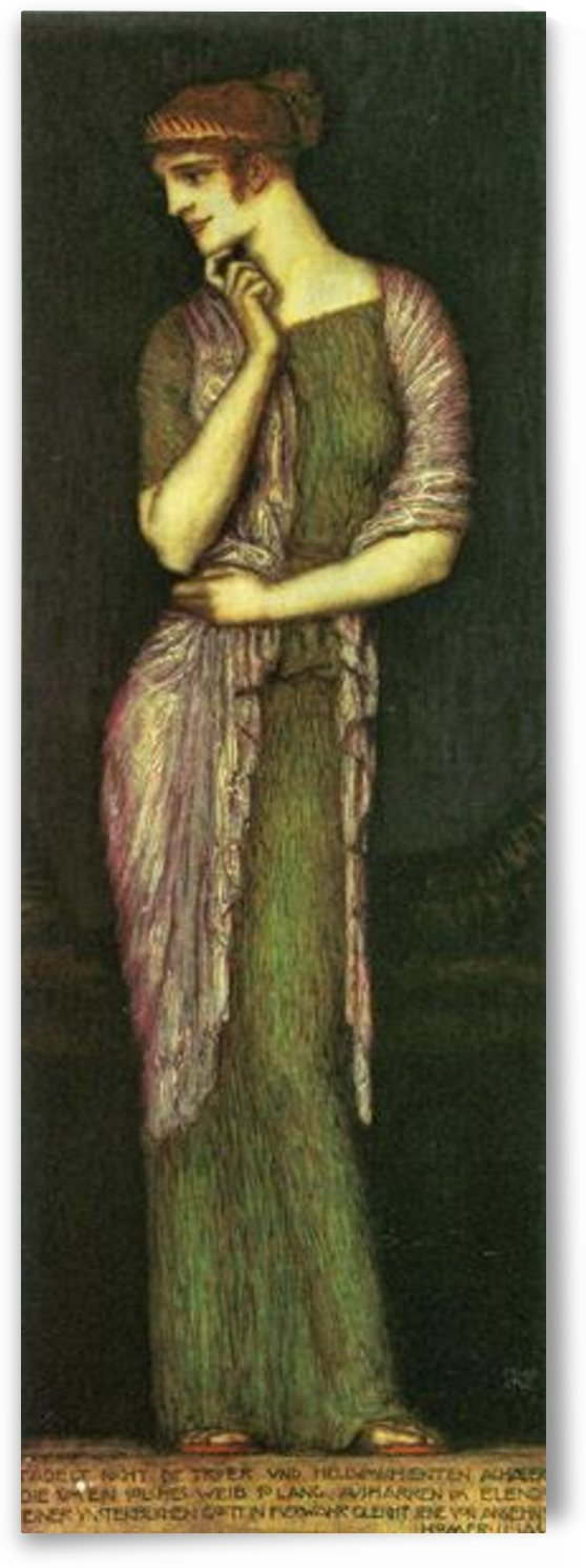 The beautiful Helena by Franz von Stuck by Franz von Stuck