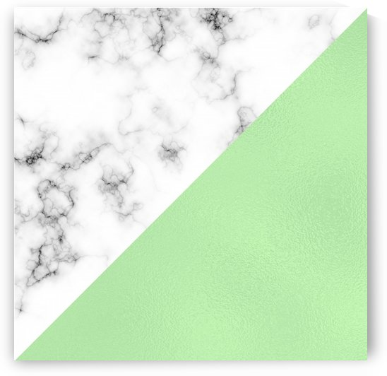 ABSTRACT MODERN GREEN GLASS MARBLE by rizu_designs