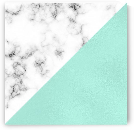 ABSTRACT MODERN TURQUOISE GLASS MARBLE by rizu_designs