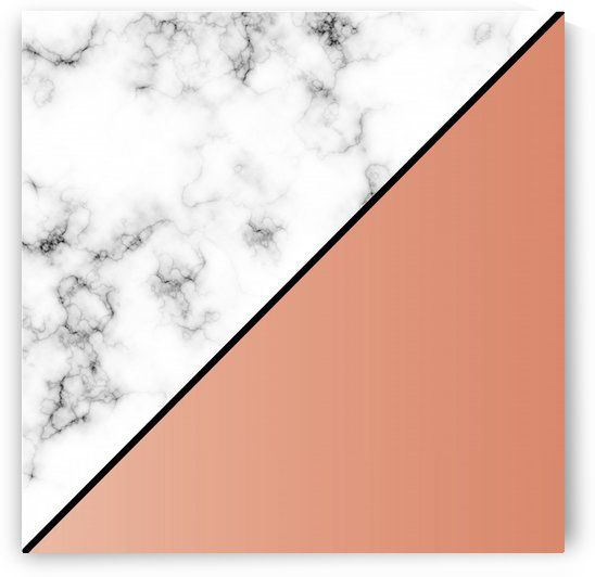 ABSTRACT MODERN ORANGE MARBLE by rizu_designs