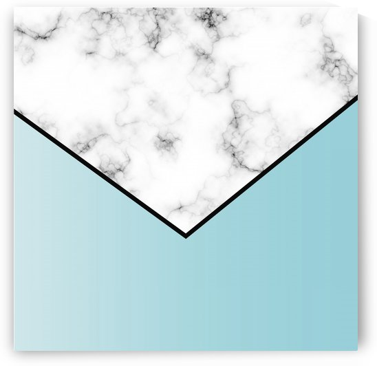 ABSTRACT BLUE TINT MODERN MARBLE by rizu_designs