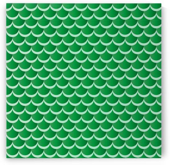 GREEN MERMAID PATTERN by rizu_designs