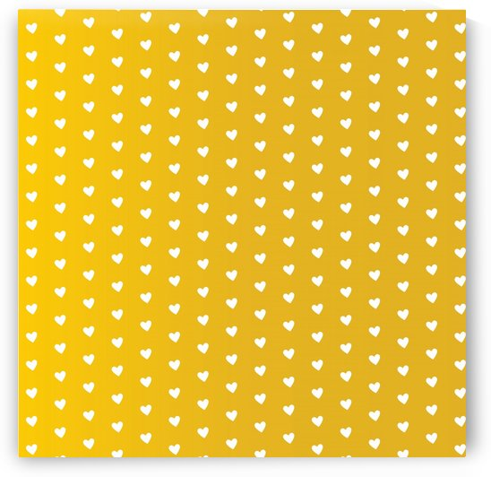Autumn Yellow Heart Shape Pattern by rizu_designs