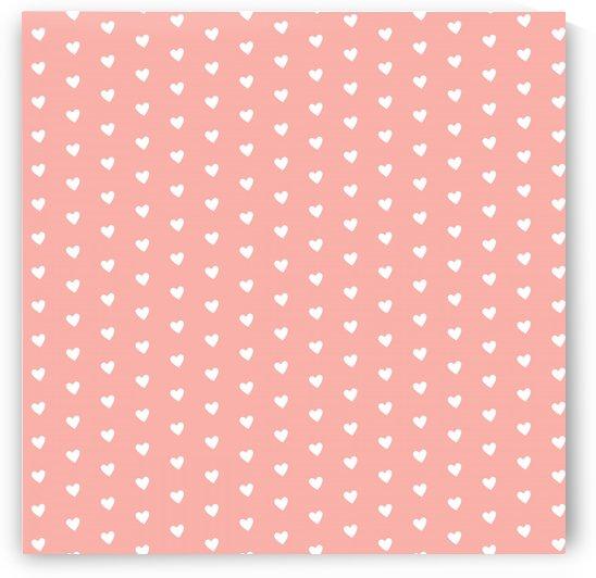 Apricot Blush Heart Shape Pattern by rizu_designs