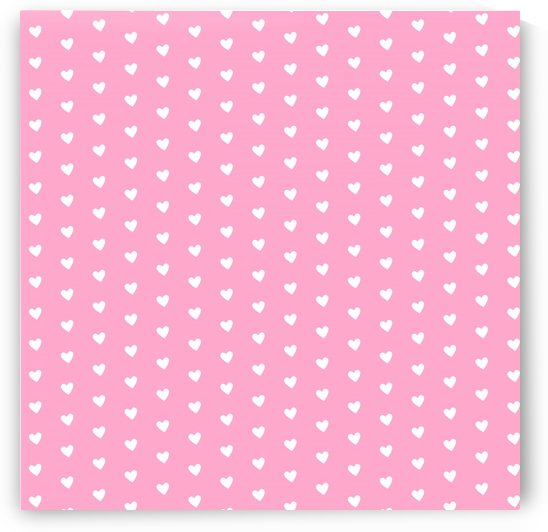 Carnation Pink Heart Shape Pattern by rizu_designs