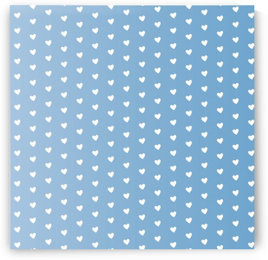Blue Grey Heart Shape Pattern by rizu_designs