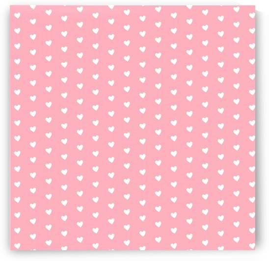 Bitter Pink Heart Shape Pattern by rizu_designs