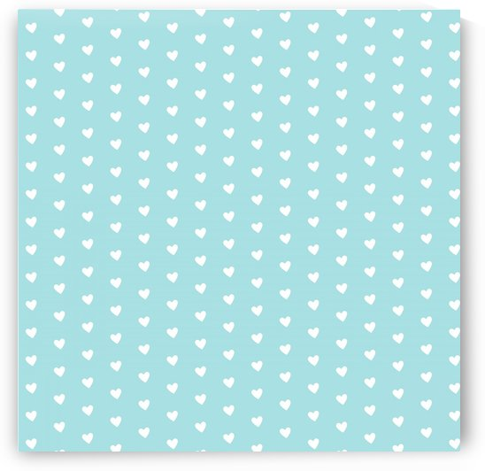 Light Blue Heart Shape Pattern by rizu_designs