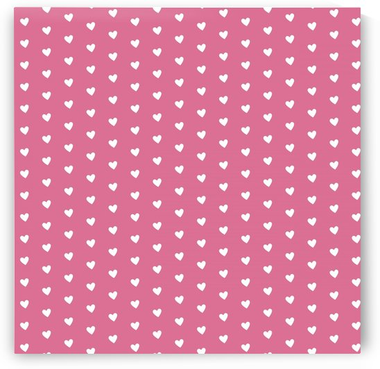 Pale Violet Red Heart Shape Pattern by rizu_designs