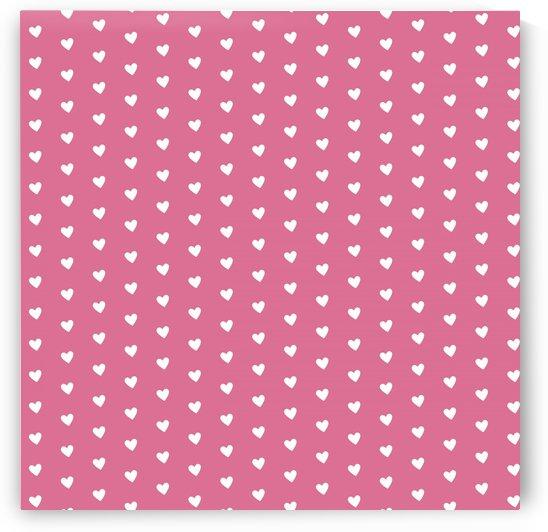 Pale Violet Red Heart Shape Pattern by rizu_designs