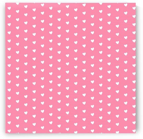 Flamingo Pink Heart Shape Pattern by rizu_designs
