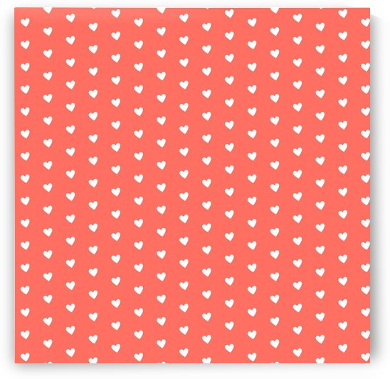 Living Coral Heart Shape Pattern by rizu_designs