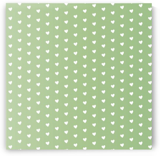 Green Blush Heart Shape Pattern by rizu_designs