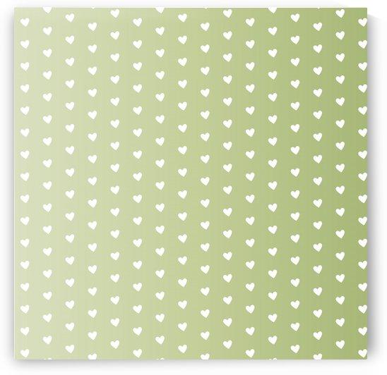 Kids Green Heart Shape Pattern by rizu_designs