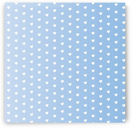 Spring Blue Heart Shape Pattern by rizu_designs