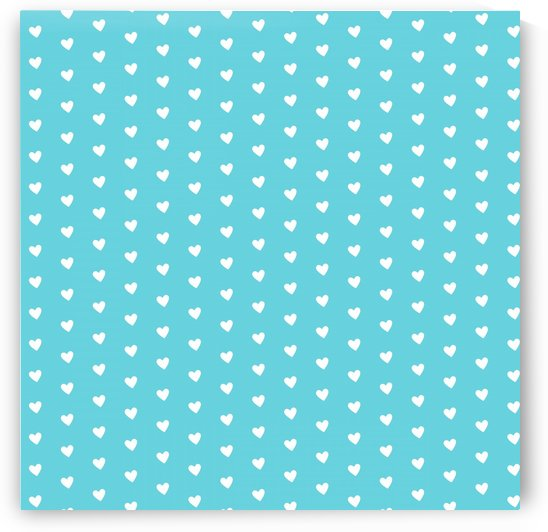 Sweet Light Blue Heart Shape Pattern by rizu_designs