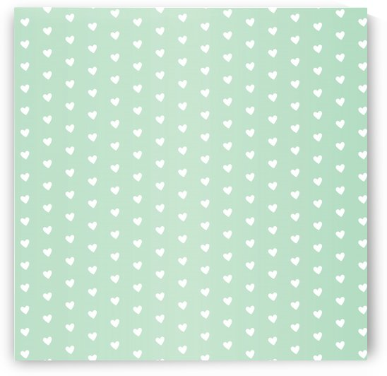 Spring Green Heart Shape Pattern by rizu_designs