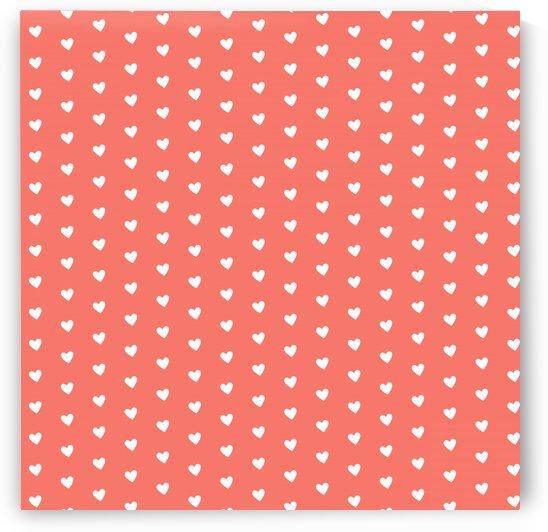 Peach Heart Shape Pattern by rizu_designs