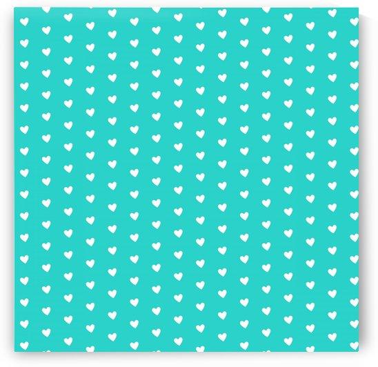 Sweet Aqua Heart Shape Pattern by rizu_designs