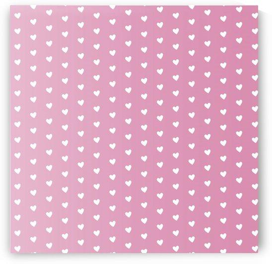 Pink Gradient Heart Shape Pattern by rizu_designs