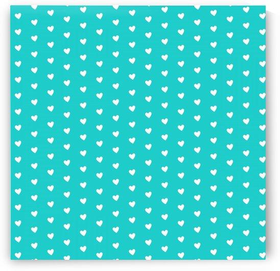 Robin Egg Blue Heart Shape Pattern by rizu_designs