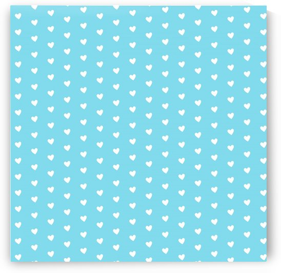 Sky Blue Heart Shape Pattern by rizu_designs