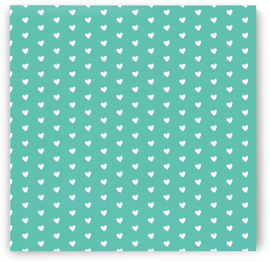 Sweet Green Heart Shape Pattern by rizu_designs