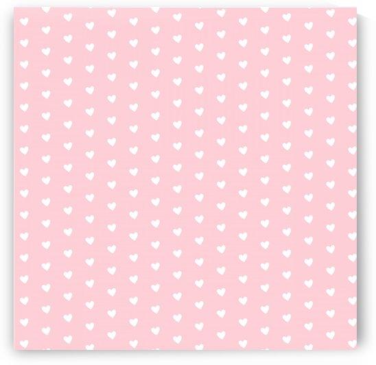 Pink Blush Heart Shape Pattern by rizu_designs