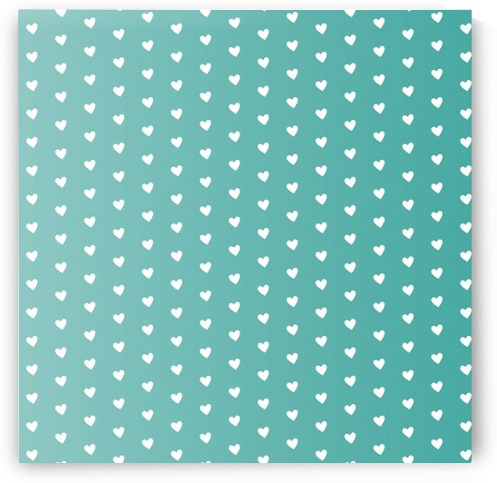 Teal Green Heart Shape Pattern by rizu_designs