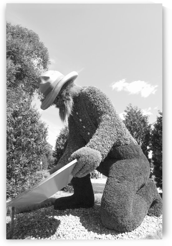 Yukons entry: The Prospector b&w by Bob Corson