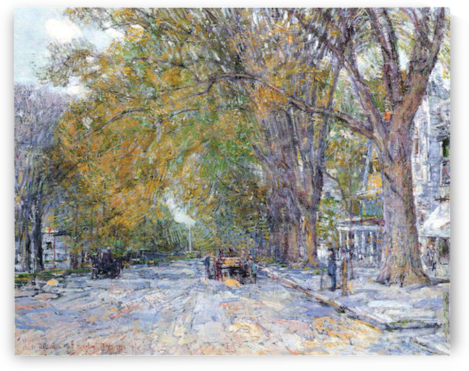Main Street, East Hampton by Hassam by Hassam