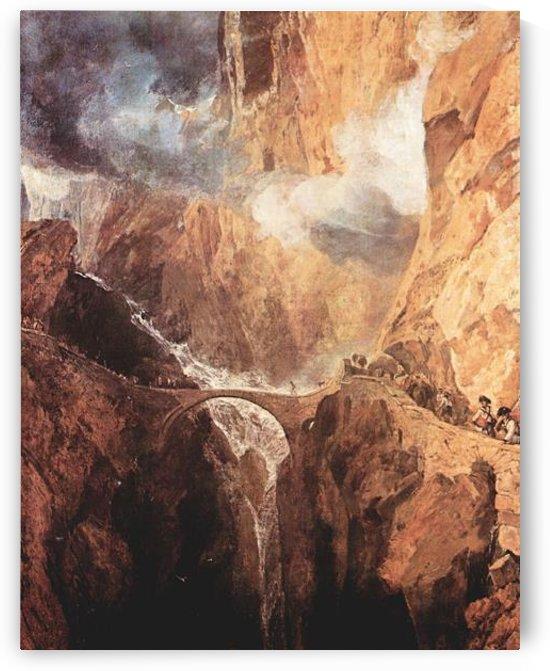 The Devils Bridge St. Gotthard by Joseph Mallord Turner by Joseph Mallord Turner