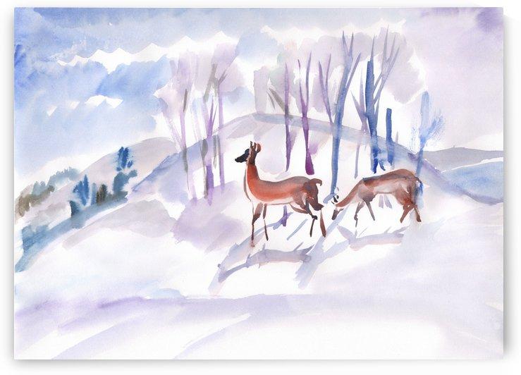 Roe Deers by Dobrotsvet Art