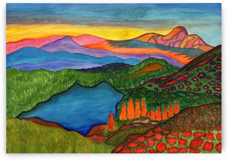 mountain lake by Dobrotsvet Art