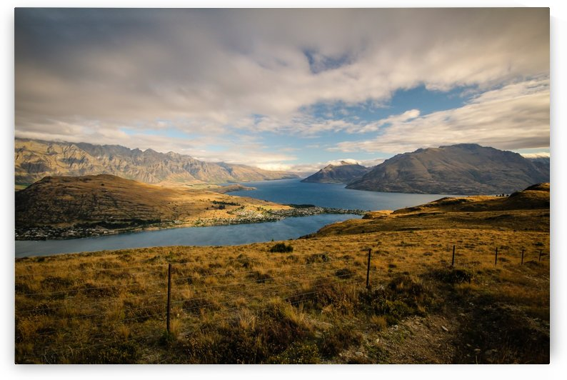 Fence over Queenstown by Roman Buchhofer