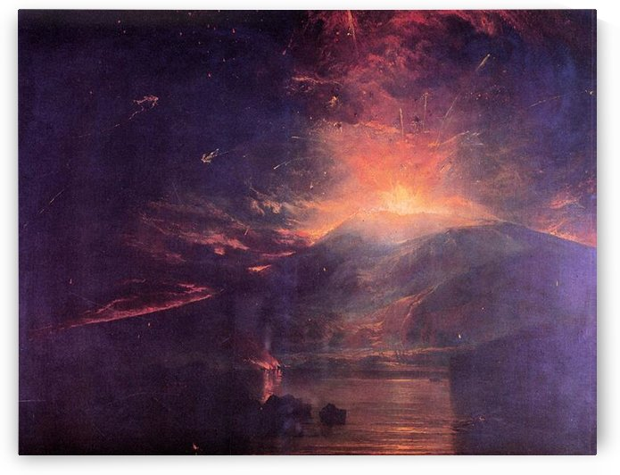 The eruption of volcano Souffrier by Joseph Mallord Turner by Joseph Mallord Turner