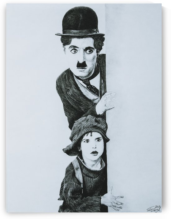 Charlie Chaplin and The Kid by Tpencilgallery