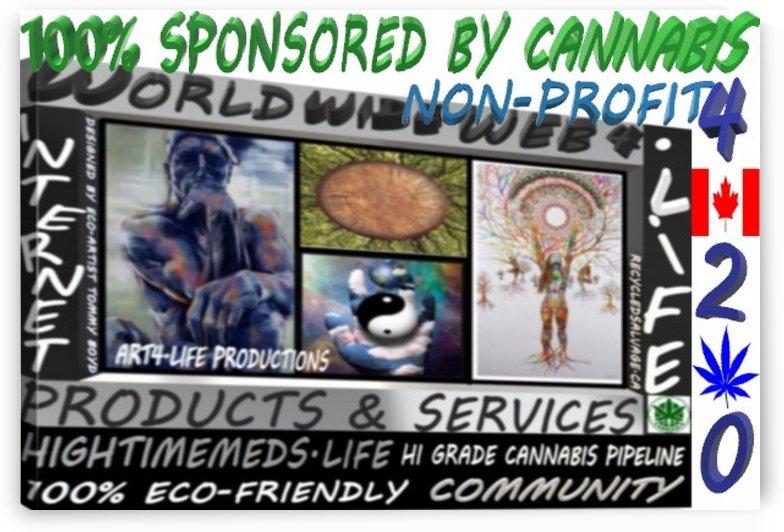 ECO ARTIST TOMMY BOYDWORLD WIDE WEB 4.LIFE WEBSITE BADGE 1 by Eco-Artist Tommy Boyd