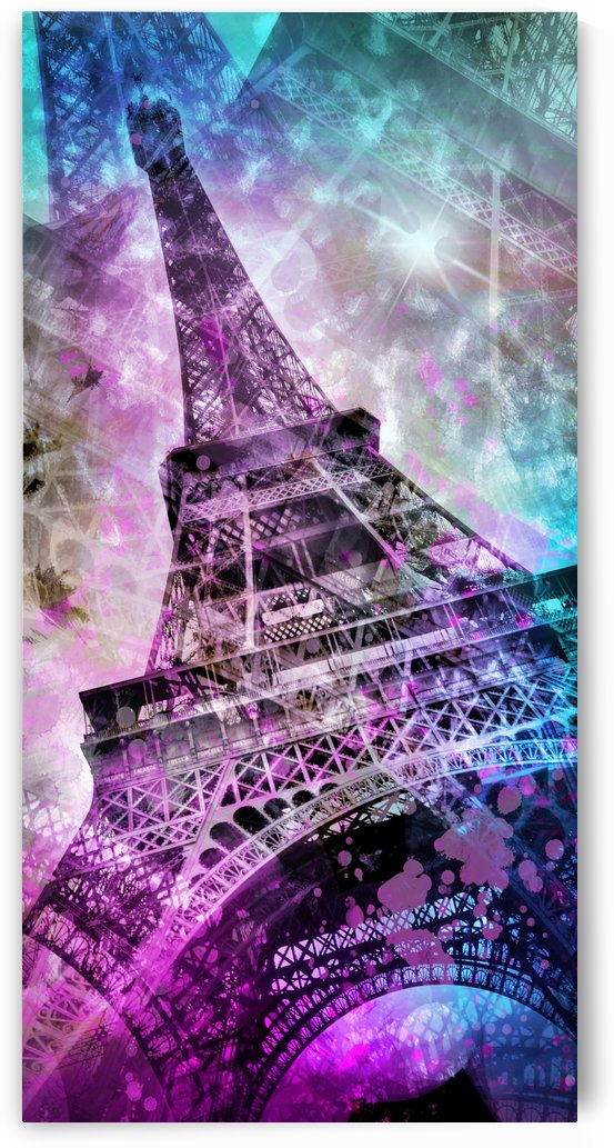 Pop Art Eiffel Tower | Panorama by Melanie Viola