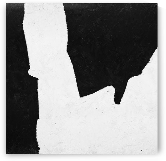 Black White Minimal Abstract Painting Nr.101 by Edit Voros