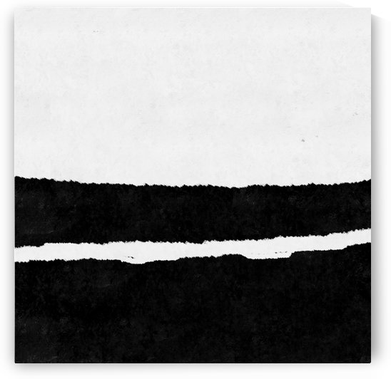 Black White Minimal Abstract Painting Nr.102 by Edit Voros