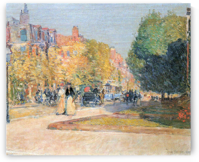 Malborough Street, Boston by Hassam by Hassam