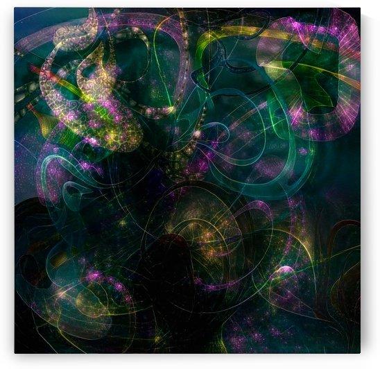 Swirling Neon Lights by Bruce Rolff