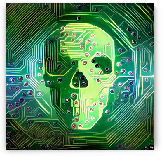 Digital Skull by Bruce Rolff
